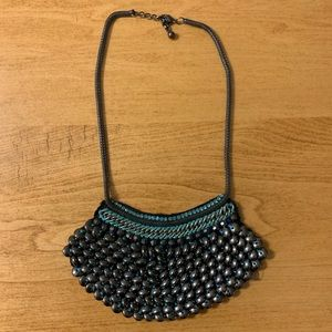 Anthropologie beaded bib necklace